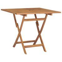 vidaXL Skládací zahradní stůl 85 x 85 x 76 cm masivní teakové dřevo