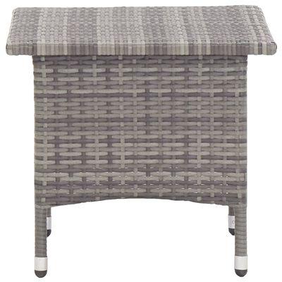 vidaXL Čajový stolek šedý 50 x 50 x 47 cm polyratan, Grey
