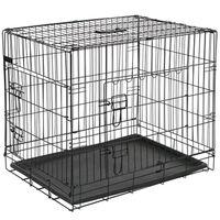 @Pet Přepravní klec pro psy kov 92,5 x 57,5 x 64 cm černá 15003