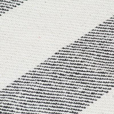 vidaXL Přehoz bavlna pruhovaný 220 x 250 cm antracitový, Anthracite