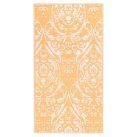 vidaXL Venkovní koberec oranžový a bílý 120 x 180 cm PP