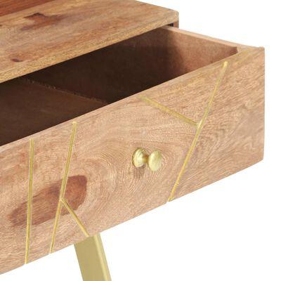vidaXL Konferenční stolek 95 x 50 x 42 cm masivní sheeshamové dřevo