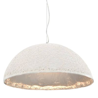 vidaXL Závěsné svítidlo bílo-stříbrné Ø 70 cm E27