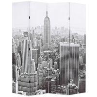 vidaXL Skládací paraván 160 x 170 cm Denní New York černobílý