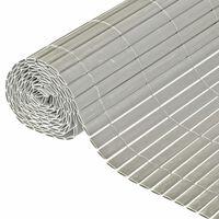 Nature Oboustranná zahradní clona PVC 1,5 x 3 m šedá