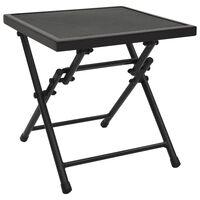 vidaXL Skládací pletivový stůl 38 x 38 x 38 cm ocel antracitový