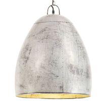 vidaXL Industriální závěsné svítidlo 25 W stříbrné kulaté 42 cm E27