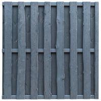 vidaXL Protipohledový plotový dílec borovice 180 x 180 cm šedý