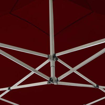 vidaXL Profesionální skládací party stan + stěny hliník 3 x 3 m vínový