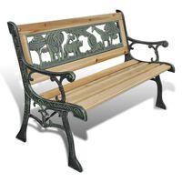 vidaXL Dětská zahradní lavice 84 cm dřevěná