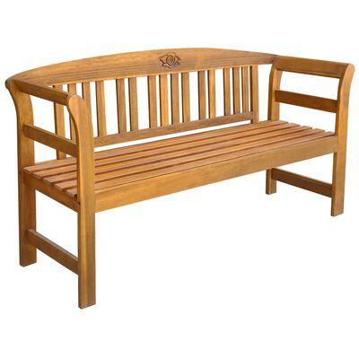 vidaXL Zahradní lavice s poduškou 157 cm masivní akáciové dřevo