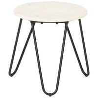 vidaXL Konferenční stolek bílý 40x40x40 cm pravý kámen mramorový vzor