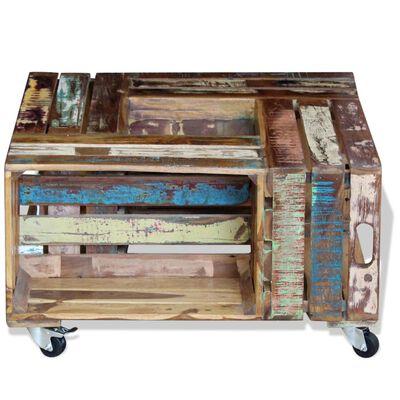 vidaXL Konferenční stolek masivní recyklované dřevo 70x70x35 cm