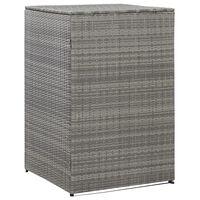 vidaXL Přístřešek na popelnici uhlový 76 x 78 x 120 cm polyratan