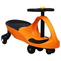 vidaXL Dětské vozítko a odrážedlo SwingCar s klaksonem oranžové