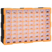 vidaXL Organizér se 64 zásuvkami 52 x 16 x 37,5 cm