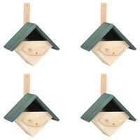 vidaXL Bird Houses 4 pcs 24x16x30 cm Firwood
