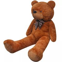 vidaXL XXL měkký plyšový medvídek na hraní hnědý 135 cm