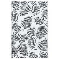 vidaXL Venkovní koberec bílý a černý 80 x 150 cm PP