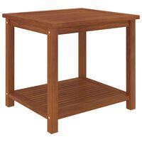vidaXL Odkládací stolek masivní akáciové dřevo 45 x 45 x 45 cm