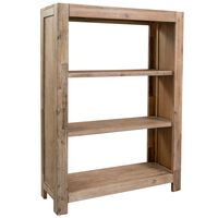 vidaXL Knihovna se 3 policemi 80 x 30 x 110 cm masivní akáciové dřevo