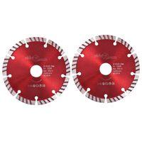 vidaXL Diamantové řezací kotouče 2 ks turbo ocel 125 mm
