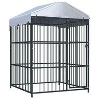 vidaXL Venkovní psí kotec se střechou 150 x 150 x 210 cm