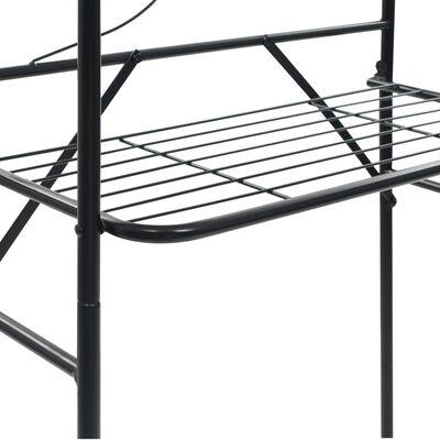 vidaXL Koupelnový regál černý 60 x 33 x 174 cm