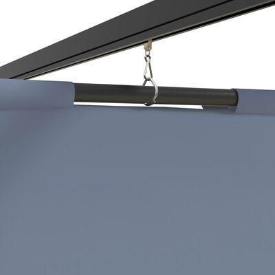 vidaXL Altán se závěsy 3 x 3 m antracitový ocel