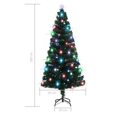 vidaXL Umělý vánoční stromek se stojanem a LED 180 cm 220 větviček