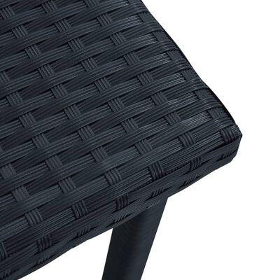 vidaXL Zahradní čajový stolek černý 40 x 40 x 40 cm polyratan