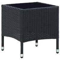 vidaXL Zahradní stůl černý 40 x 40 x 45 cm polyratan