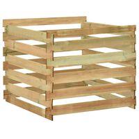 vidaXL Laťkový zahradní kompostér 100x100x80 cm impregnovaná borovice