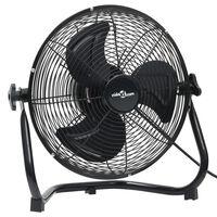 vidaXL Podlahový ventilátor 3 rychlosti 60 cm 120 W černý