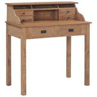 vidaXL Psací stůl 90 x 50 x 100 cm masivní teakové dřevo