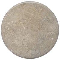 vidaXL Stolní deska šedá Ø 70 x 2,5 cm mramor
