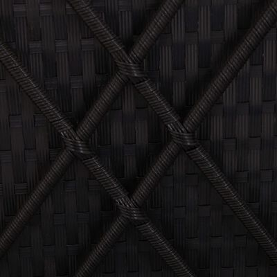 vidaXL 3dílná sada zahradních lehátek polyratan černá