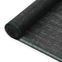 vidaXL Tenisová zástěna černá 1,6 x 50 m HDPE