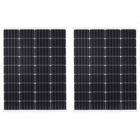 vidaXL Solární panel 2 ks 100 W hliník a bezpečnostní sklo