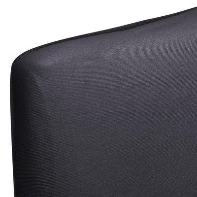 vidaXL Hladké strečové potahy na židle 4 ks antracitové, Anthracite