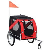 vidaXL Vozík za kolo pro psa červeno-černý