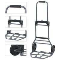 vidaXL Skládací ruční vozík hliníkový 130 kg