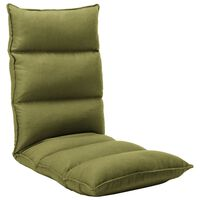 vidaXL Skládací lenoška na podlahu zelená textil