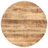 vidaXL Stolní deska masivní mangovníkové dřevo kulatá 15–16 mm 60 cm