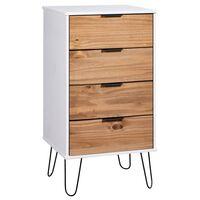 vidaXL Komoda se zásuvkami světlé dřevo bílá 45x39,5x90,3 cm borovice