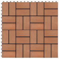 vidaXL 22 ks terasové dlaždice 30 x 30 cm 2 m² WPC teakový odstín