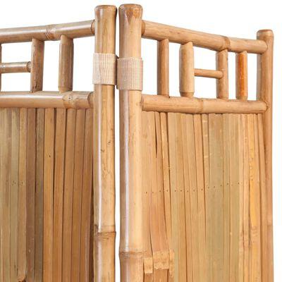 vidaXL Pětidílný paraván bambusový 200x160 cm