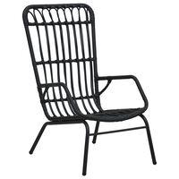 vidaXL Zahradní židle polyratan černá