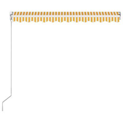 vidaXL Ručně zatahovací markýza 300 x 250 cm žlutobílá