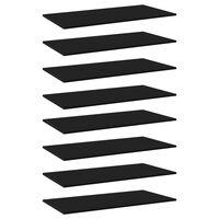 vidaXL Přídavné police 8 ks černé 80 x 30 x 1,5 cm dřevotříska